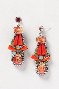pretty red drop earrings
