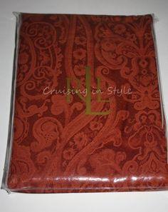 Ralph Lauren NEW Tablecloth Paisley Rust 70 X 104 Cloth Damask Table Linen #RalphLauren