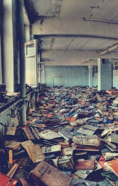 abandoned old library in Russia ~ So VERY Sad