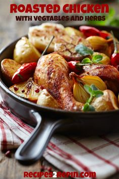 Roasted Chicken with Vegetables  Herbs