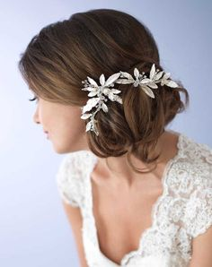 USABride Caprice Floral Clip TC-2282 Wedding Pins, Combs + Clips photo