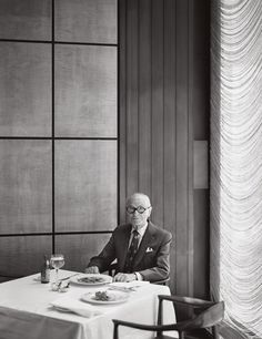 Philip Johnson lunch at the Seagrams building, Four Seasons