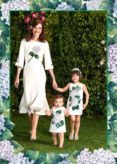 Love this gorgeous Dolce & Gabbana Ortensia Mommy & Me Collection Fall Winter 2017-18. Perfect Special Occasion Dresses for girls of all ages!