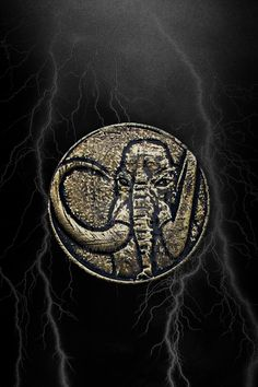 MMPR Black Ranger Mastodon Coin iPhone Wallpaper by RussJericho23.deviantart.com on @deviantART