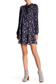 Long Sleeve Printed Tunic Dress by Onetheland on @nordstrom_rack
