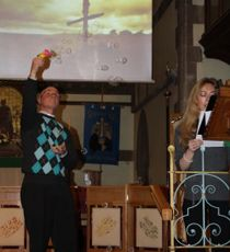 Autism Sunday Service at All Saint's Church Woodford Wells in Essex in the United Kingdom.