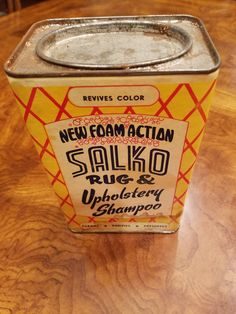 1950s Tin - Salko Rug and Upholstery Shampoo by 3LittleWitches on Etsy