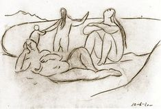 Пабло Пикассо. Купальщицы  и дети, 1920 год