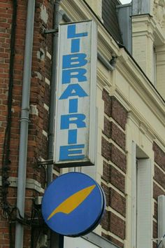 library book shop sign