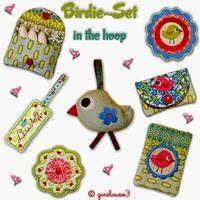 ✿ BIRDIE SET ✿ in the hoop 10x10 - ginihouse3, EUR 9.99