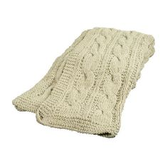 Hand knitted ribbed throw. £68.99 #cable, #cream, #cosy http://www.worldstores.co.uk/p/Hand_Knitted_Ribbed_Throw.htm