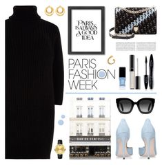 """Paris Fashion Week"" by tamara-p ❤ liked on Polyvore featuring Americanflat, River Island, Christian Dior, Gucci, Anissa Kermiche, Movado, Lancôme, Victoria Beckham, JINsoon and Deborah Lippmann"