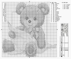 Schemi punto croce Orsetti   Hobby lavori femminili - ricamo - uncinetto - maglia