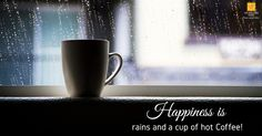 """grab some """"me-time"""" over a good cup of coffee at our Deli and watch the raindrops chase each other down the windows. Hot Coffee, Coffee Cups, Monsoon, Deli, Food For Thought, No Time For Me, Cravings, Bakery, Tasty"""