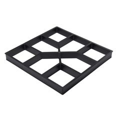 """Pillow stepping stone mold Heavy duty plastic mold 2/"""" thick flared square"""
