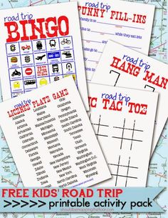 Free Printable Kids' Road Trip Activities Laminate and use with dry erase for endless fun! Road Trip Activities, Road Trip Games, Activities For Kids, Road Trips, Airplane Activities, Road Trip Packing, Packing Tips For Travel, Travel Ideas, Vacation Packing