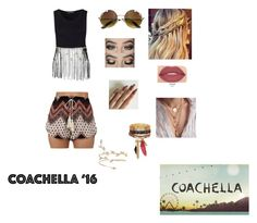 """""""Coachella '16 Contest Entry"""" by haybeebaby on Polyvore featuring New Look and Smashbox"""