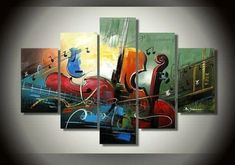 5 piece group painting, large canvas art for living room. Heavy texture canvas painting, 84 inch wall art painting. Affordable large abstract painting, huge oil painting, oversize large artwork, landscape paintings for sale. #paintings #wallart #modernpainting #buyartonline #textureart #landscape #abstract #acrylicpainting #contemporaryart #artwork #abstractpainting #largepainting Hand Painting Art, Violin Painting, Painting, Bedroom Canvas Painting, Art Paintings For Sale, 5 Piece Canvas Art, Abstract, Canvas Painting, Canvas Paintings For Sale