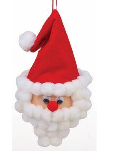 Arts and Crafts Store Cheap Christmas Crafts, Santa Crafts, Christmas Ornaments To Make, Santa Ornaments, Ball Ornaments, Christmas Balls, Kid Crafts, Christmas Stuff, Kids Christmas