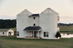 Nice silo/grain bin turned home. I can envision a deck on the top floor.