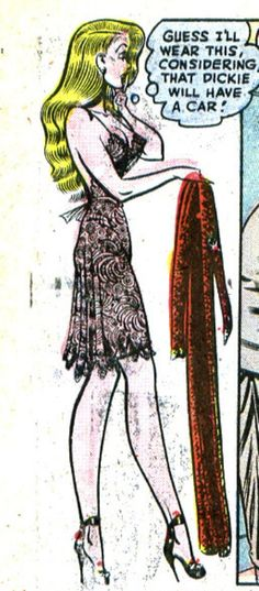 """Torchy and her clothes - Illustration by Bill Ward - Board """"Art - Torchy Todd"""""""