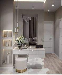 New dream closet design lighting Ideas Home Bedroom, Bedroom Decor, Bedroom Apartment, Apartment Ideas, Living Room Designs, Living Room Decor, Dressing Table Design, Flur Design, Hallway Designs