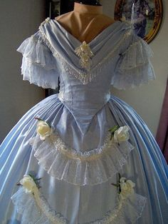 FOR ORDERS ONLY - Custom Made - 1800s Victorian Dance Dress - 1840s 1850s 1860s Civil War Ball Gown