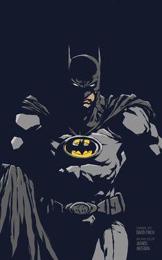 Batman (Original art by David Finch) made from Adobe Ideas on iPad.
