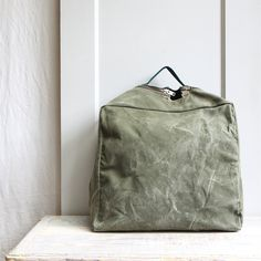 Vintage Square Canvas Duffel Bag