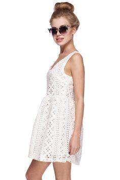 Платье с перфорацией CHAMPAGNE / 2000000027821-0