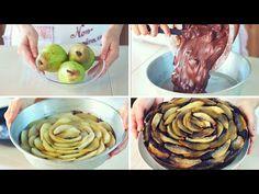 TORTA SOFFICE PERE & CIOCCOLATO Ricetta Facile - Dark Chocolate Pear Cake Easy Recipe - YouTube