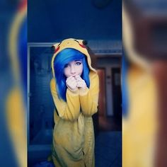 Well this pic has no real message.. just that you feel very cute and fluffy in a pikachu kigurumi xD  So enjoy your day with all of it's good and bad things... but i hope more good ones than bad cx  And i hope this pic made u smile cuz.. PIKAA IT'S SO FLUFFY I'M GONNA DIEEEEE CX