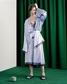 Actress Rebecca Hall in Buscemi Slides for the Tank Summer Reader