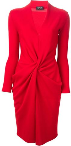 Love this: LANVIN Draped Dress @Lyst