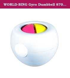 WORLD-BING Gyro Dumbbell 8700, Muscle Recovering and Portable Exercise Equipment, Single Piece. About the Product: A user can exercise his or her wrist by turning it repeatedly while holding the force with the power of the wrist and adjusting the rotational force. The principle of the wrist exercise is to generate centrifugal force in a circular orbit based on the law of inertia and the principle of acceleration. Then the user can exercise his or her wrist by holding the force and tossing...