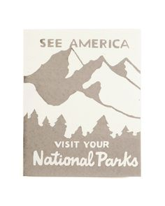 via The Artisans Bench: National Parks 8 x 10 print