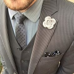Look great for $25!! Join our Monthly Club July Box Lapel Pin ($20) Black Dot Necktie Styled by @meeeotch - Sign Up Today! Get 5 great items for only $25!!!  Easy to style... Free Shipping | Cancel Anytime Sign up via link in our profile - Shop our Deals Neckties - choose 3 for $45! Lapel Flowers - 5 for $35! Pocket Squares - 3 for $25... Link from profile Harrison Blake Apparel www.harrisonblakeapparel.com