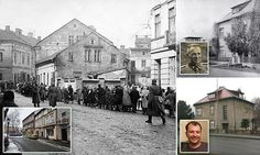 Haunting then and now pictures of the town next to Auschwitz