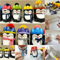 Plastic Bottle Penguins- perfect for a group event at church or school!
