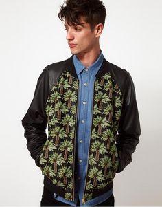ASOS Bomber Jacket | Basball Jackets | mens baseball jacket | mens bomber jacket | menswer | mens style | mens fashion | Check out more baseball jackets http://www.wantering.com/mens-clothing/jackets/