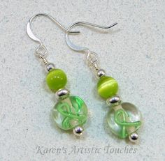 Lime Green Ribbon Lymphoma or Muscular by ArtisticTouches on Etsy
