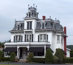 White Victorian Second Empire House (Gothic) by Cosmos Mariner,