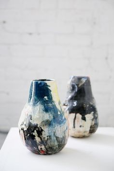colorful vases created by artist brooke winfrey / sfgirlbybay