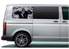 VW rear side panel printed & laminated vinyl graphics, pre-cut to fit the Volkswagen Transporter, Vw T5, Vinyl Panels, Inkjet Printer, Campervan Ideas, Graphics, Printed, Digital, Contents