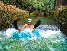 Kauai, Hawaii Backcountry Adventures – One-of-a-Kind Plantation Tubing Adventure. You actually have to wear the hard hat with a light on it. This is awesome!