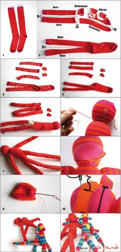 bunte freunde: TUTORIAL: let`s make monkeys...