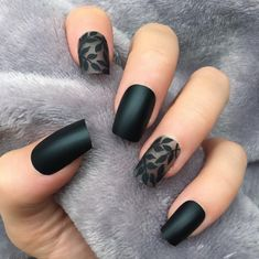 90 best Sexy Dark Matte Nails Inspirational Idea For Summer And Fall - Page 13 o. 90 best Sexy Dark Matte Nails Inspirational Idea For Summer And Fall - Page 13 of 92 - Black Nails With Glitter, Black Nail Art, Metallic Nails, Matte Nails, Glitter Nails, Gel Nails, Mat Black Nails, Black Nails Short, Black French Nails