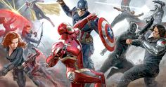 'Captain America: Civil War' Art Shows Epic Superhero Battle -- All of the Marvel heroes are at war in a new piece of promo art from the Phase 3 adventure 'Captain America: Civil War'. -- http://movieweb.com/captain-america-civil-war-art-superhero-fight/