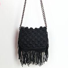 Handmade crochet bag with fringes Fringes, Handmade Bags, Fall Winter, Spring Summer, Shoulder Bag, Handbags, Knitting, Crocheting, Closet