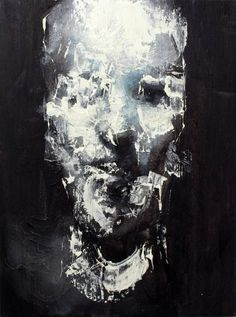 "Saatchi Art Artist Jean-Luc Almond; Painting, ""Dripping face"" #art"